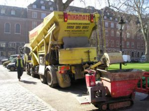 Concrete lorry's use sock to stop waste