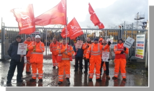 Crane strike action
