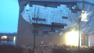 Edinburgh school wall collapse