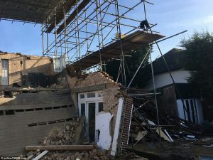 London basement collapse