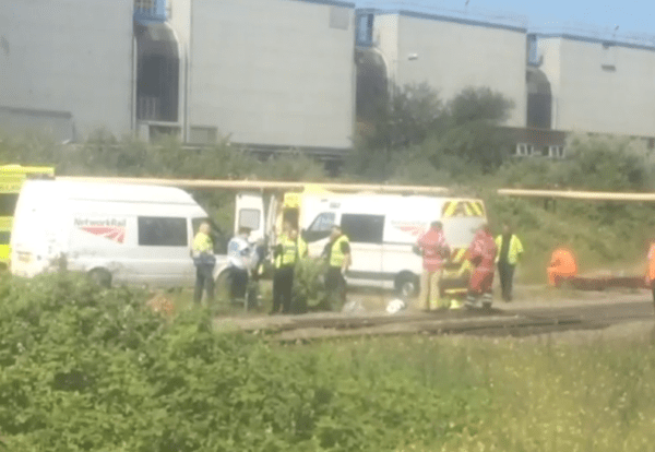 Rail workers killed by train
