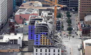 Hard Rock hotel crane collapse in New Orleans (Video)