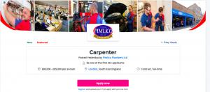 Carpenters £85k a year