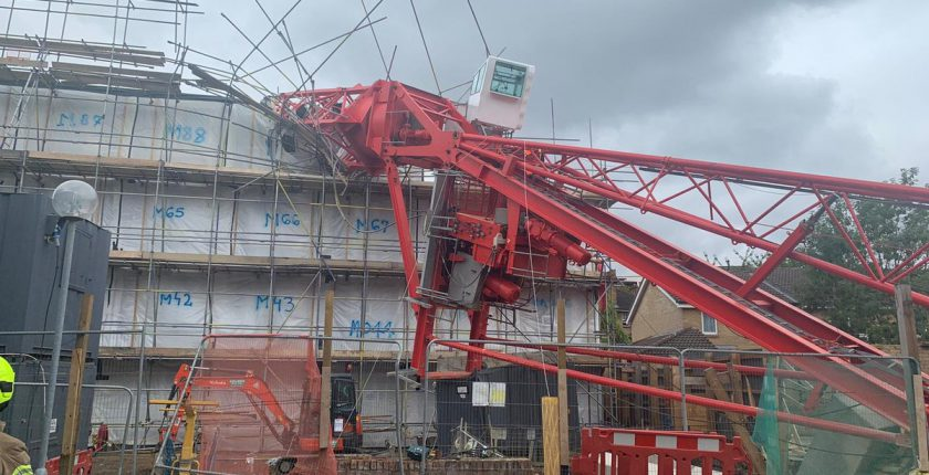 crane collapse in east london