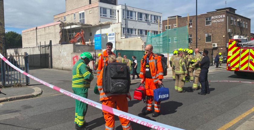 Construction worker dies in north London