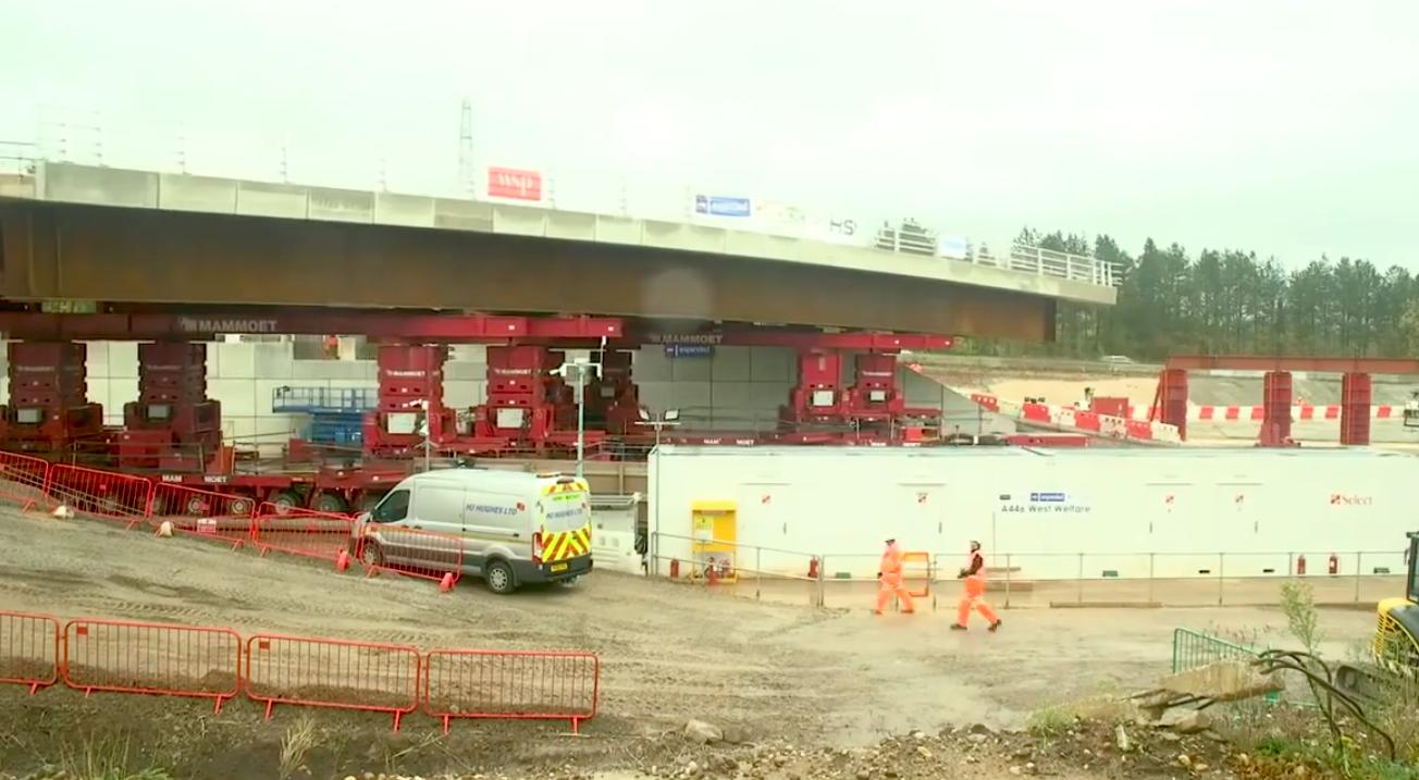 HS2 Bridge installed in 45 mins