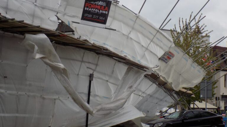 Scaffold collapse in Maidenhead