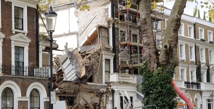 Chelsea mega mansion collapsed