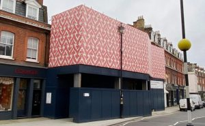 Uk's first non PVC eco-friendly scaffolding wrap
