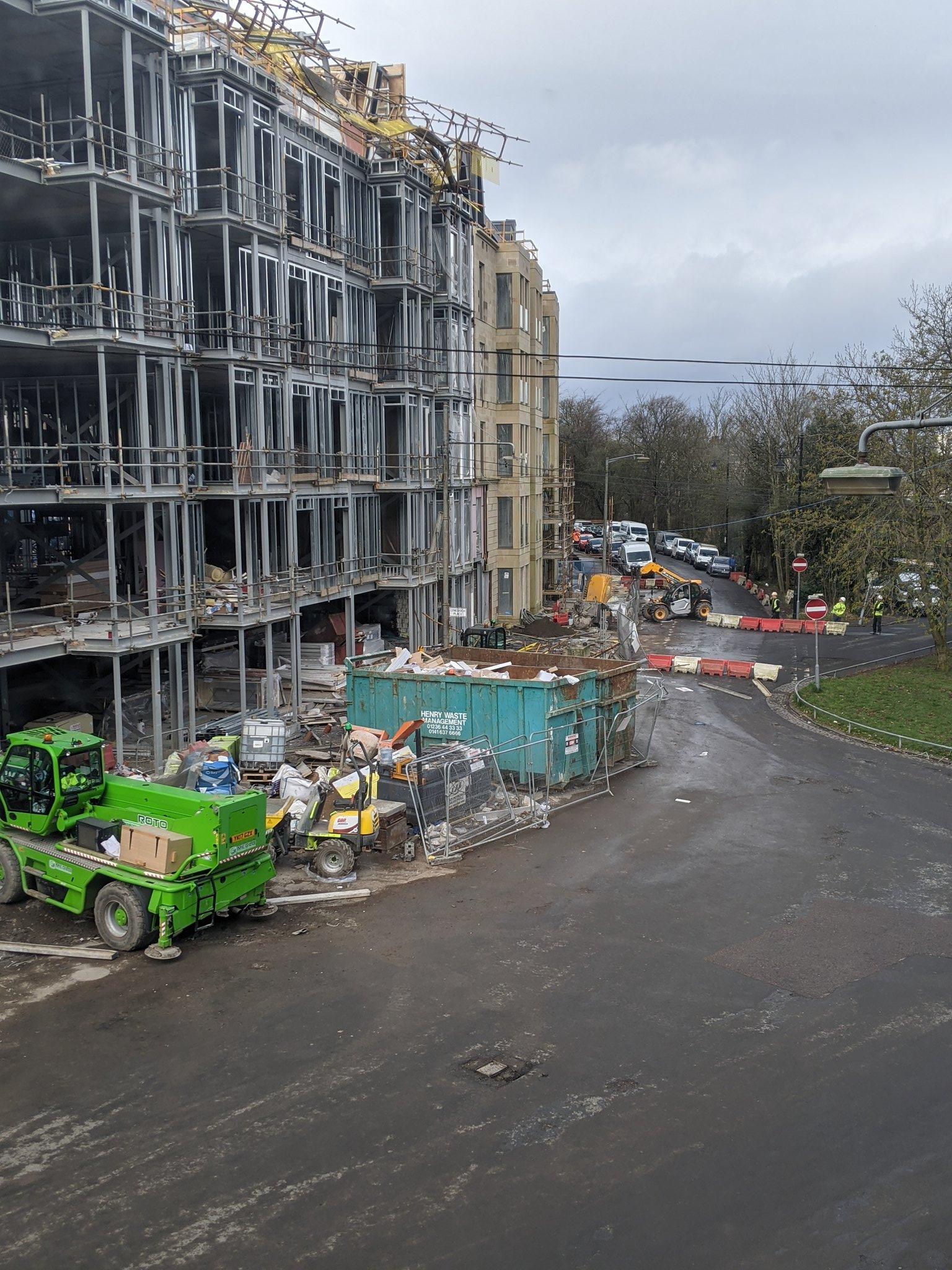 Scaffold collapse Glasgow