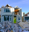 The roof and many walls demolished after builder was not paid