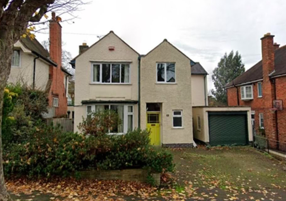 Image of the house before the demolition took place